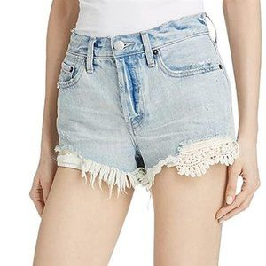 FREE PEOPLE Ripped Daisy Chain Shorts